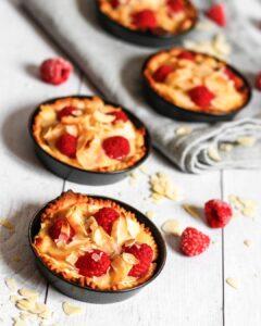tartelettes à la crème d'amande et aux fruits