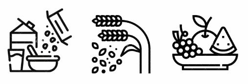 Illustration article granola