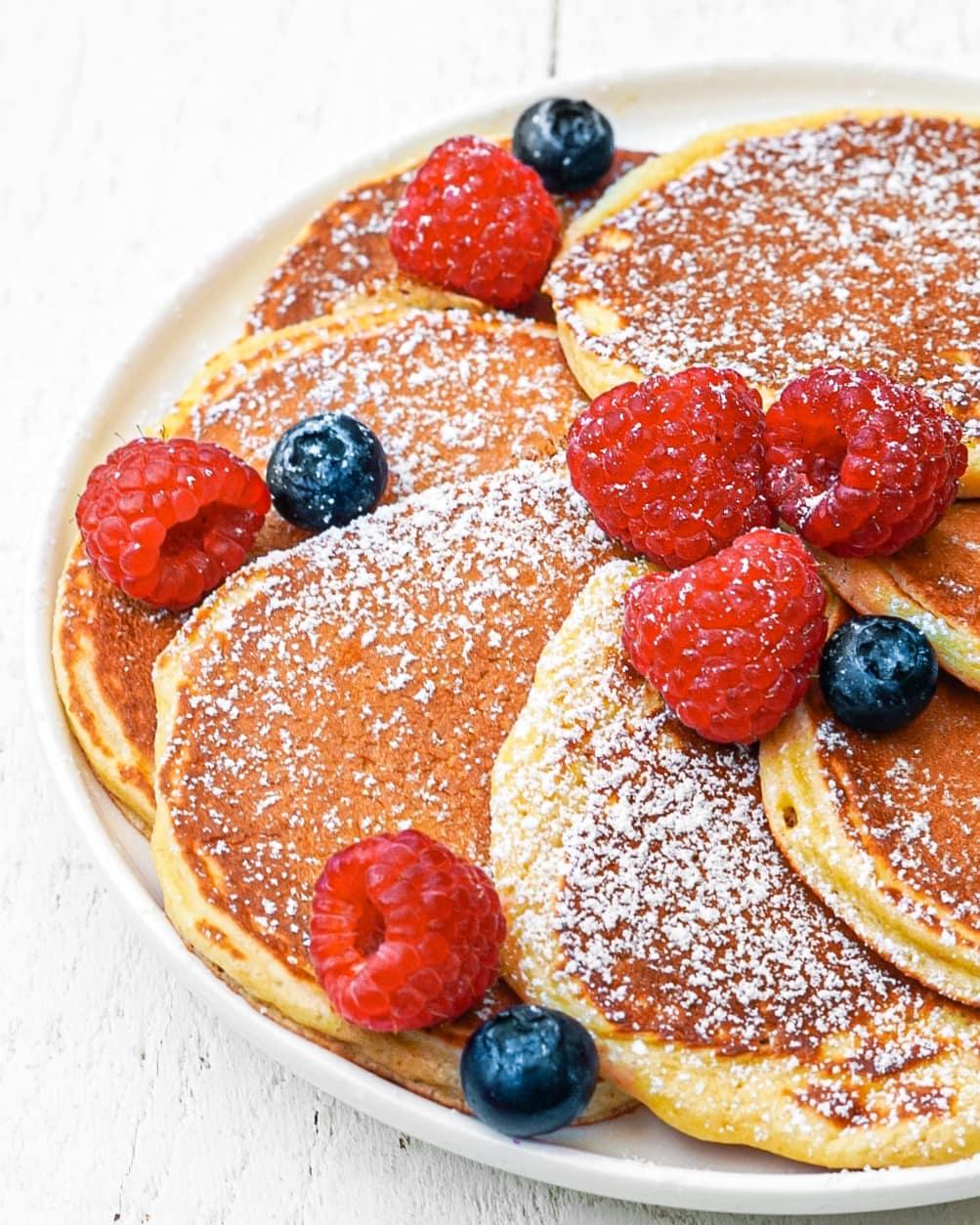 Recette de pancakes protéinés au fromage blanc