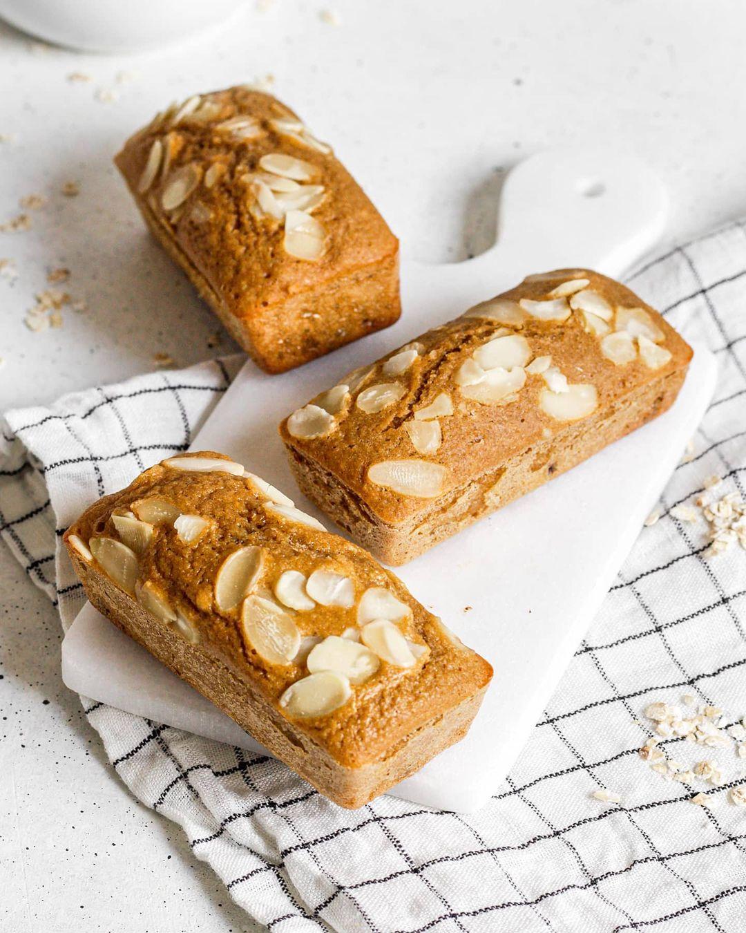 recette healthy de gâteaux moelleux aux amandes et à la compote