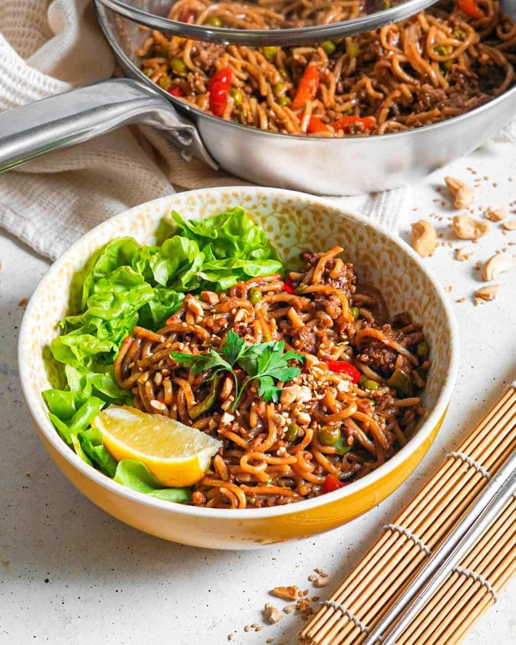 Recette nouilles udon sautées aux légumes