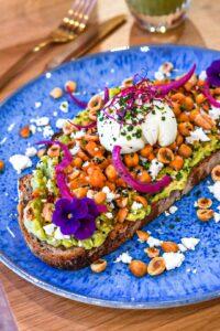 Avocado toast paris brunch