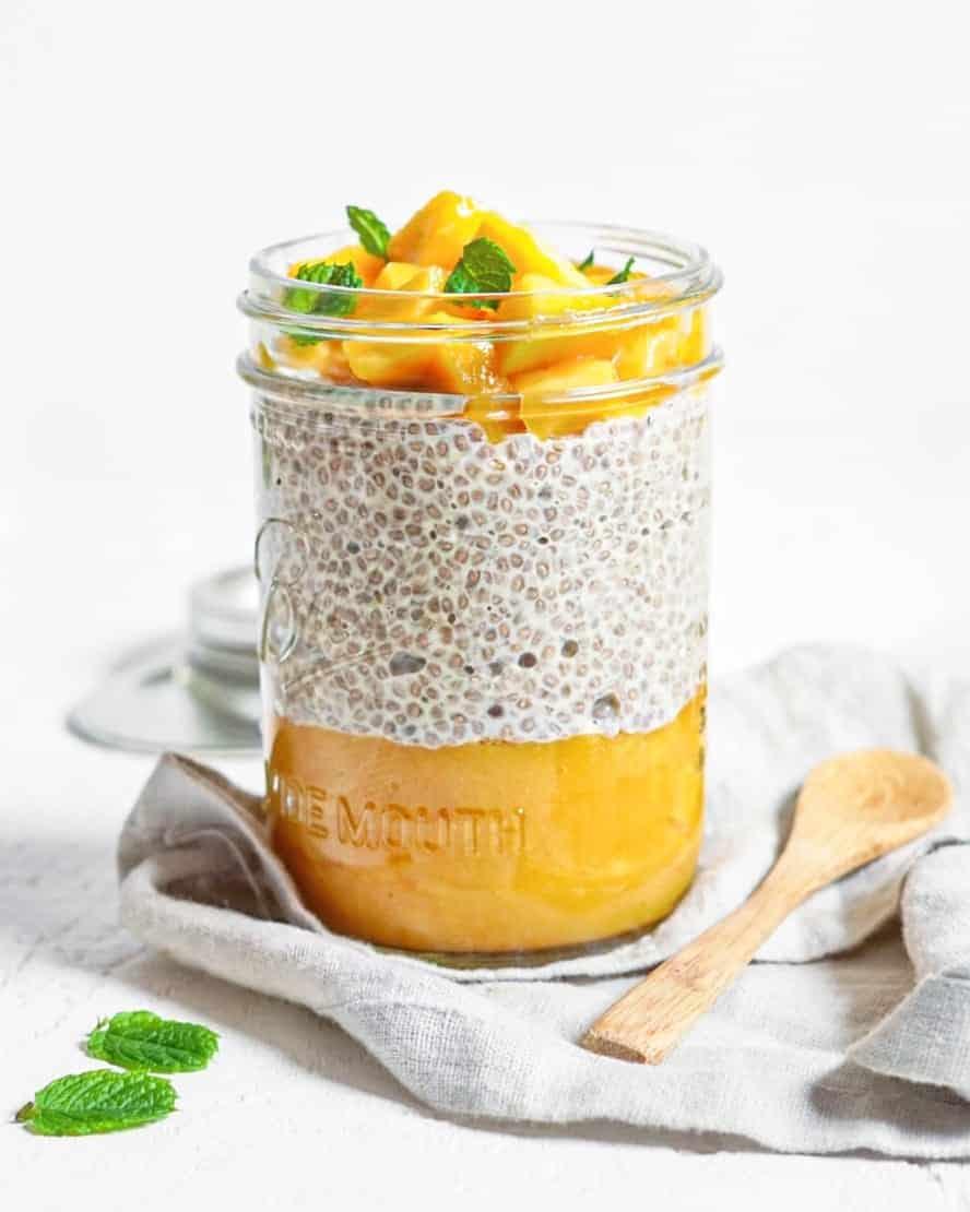 Recette facile chia pudding mangue